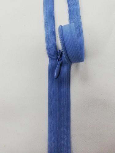 0231 Молния потайная Т3 60см цв.серо-голубой(в упак.50шт)