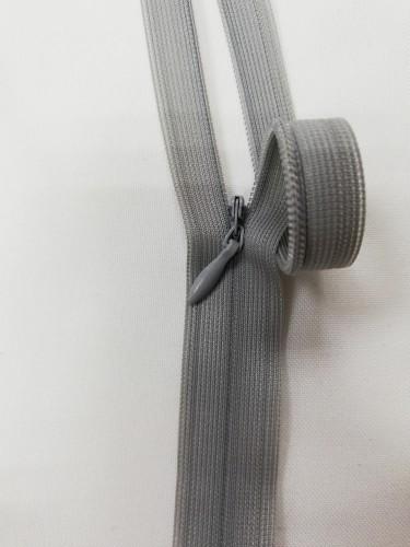 1133  Молния потайная Т3 60см цв.серый(в упак.50шт)