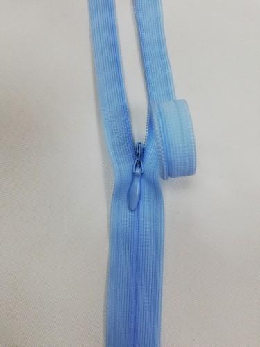 1026 Молния потайная Т3 60см цв.голубой(в упак.50шт)