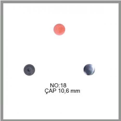 Заготовка для обтяжки пуговиц на пластиковой ножке №18 11,5мм цв.черный(в упак.500шт)