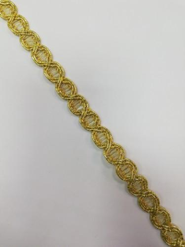 10514 Отделочная тесьма декоративная цв.золото(в рул.100м)