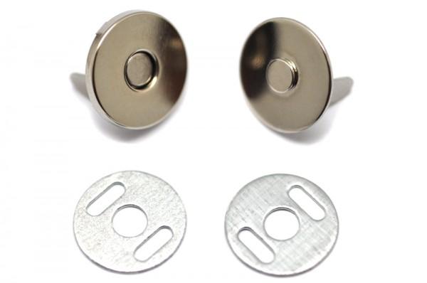 0326-1024 Кнопка магнитная стальная 18*2мм цв.никель(в упак.100шт)