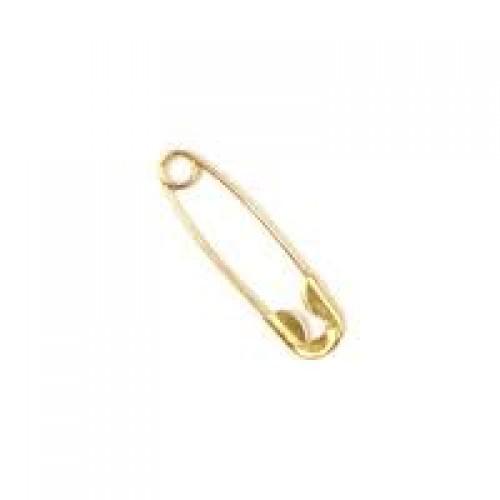 Булавки английские №000 19мм цв.золото(в упак.1728шт)