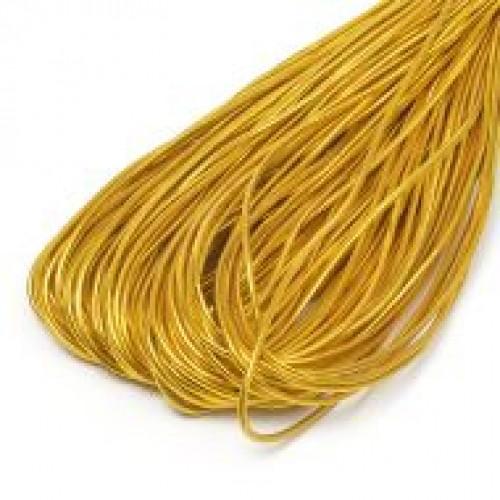 Резинка шляпная 2мм цв.золотой(в рул.100м)