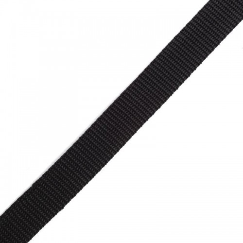 322 Стропа текстильная 20мм цв.черный(в рул.100м)