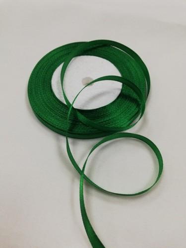 243 Атласная лента 6мм цв.зеленый(в рул.33м)
