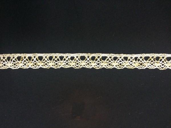 0006S Кружево вязаное хлопок цв.белый(в упак.20м)