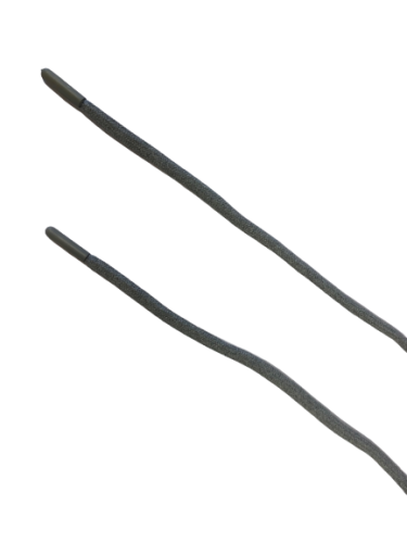 Шнур с наконечником 120см круглый 6мм цв.серый меланж(в упак.50шт)