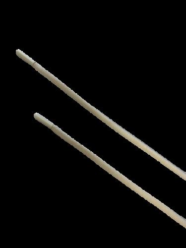 Шнур с наконечником 130см круглый 6мм цв.бежевый(в упак.50шт)