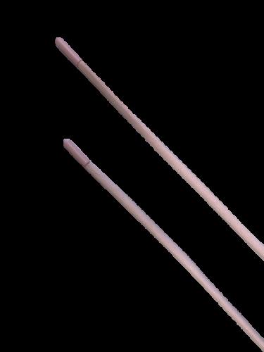 Шнур с наконечником 120см круглый 6мм цв.светло-розовый(в упак.50шт)
