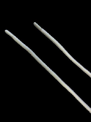 Шнур с наконечником ХБ 120см круглый 6мм цв.молочный(в упак.50шт)