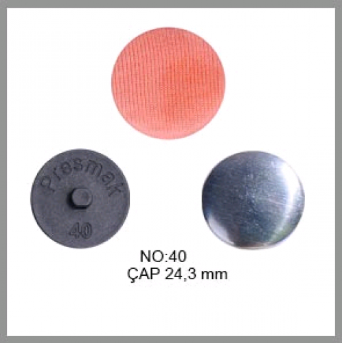 Заготовка для обтяжки пуговиц на пластиковой ножке №40 25мм цв.черный(в упак.250шт)