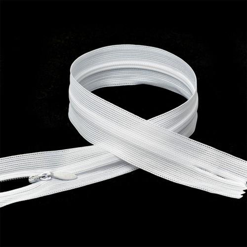 101 Молния потайная Т3 60см цв.белый(в упак.100шт)