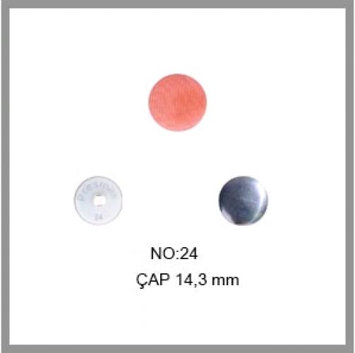 Заготовка для обтяжки пуговиц на пластиковой ножке №24 15мм цв.белый(в упак.500шт)