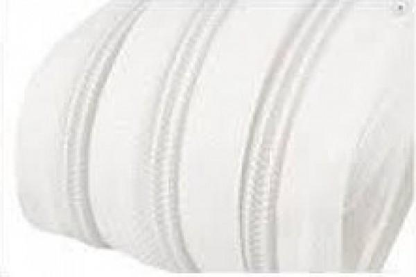 101 Молния спираль Т5 рулонная цв.белый(в рул.200м)