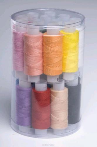 Набор ниток IDEAL 40/2 366м цветные(в упак.10бобин)