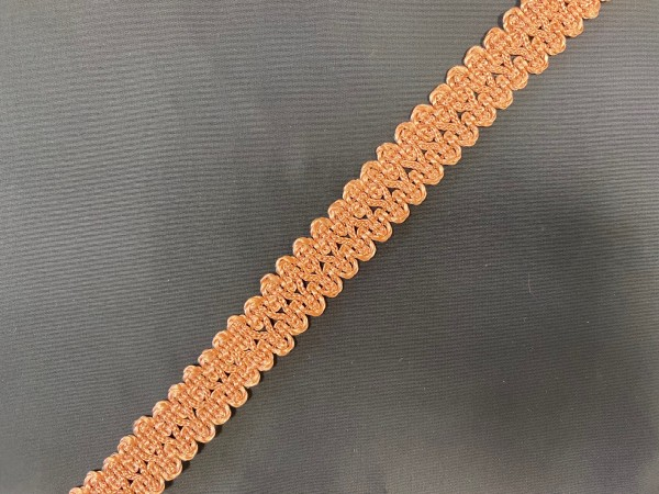 Тесьма декоративная для штор №11-22 цв.коричневый(в упак.27м)