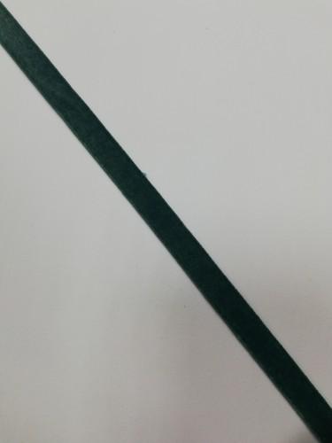 Бархатная лента эластичная 10мм цв.зеленый(в рул.~200м)