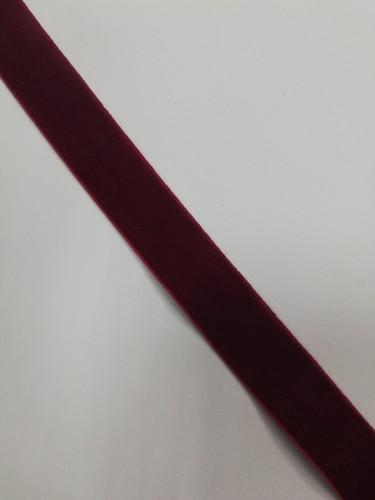 Бархатная лента эластичная 20мм цв.бордовый(в рул.~100м)