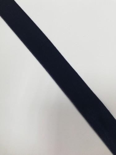 Бархатная лента эластичная 20мм цв.т.синий(в рул.~100м)