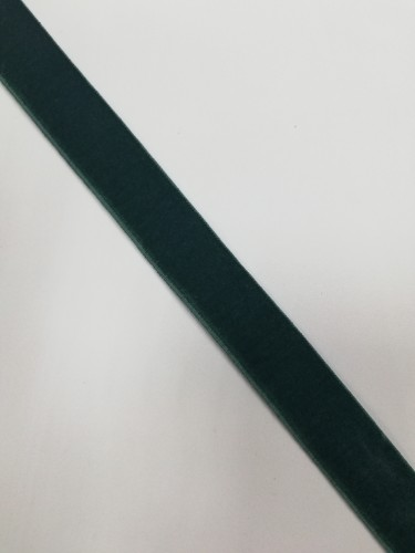 Бархатная лента эластичная 20мм цв.зеленый(в рул.~100м)