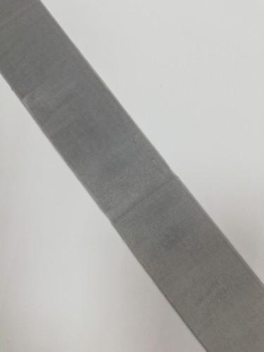 Бархатная лента эластичная 40мм цв.серый(в рул.~50м)