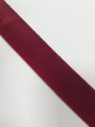 Бархатная лента эластичная 40мм цв.бордовый((в рул.~50м)