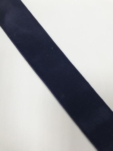 Бархатная лента эластичная 40мм цв.т.синий(в рул.~50м)