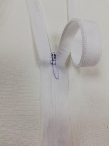 Молния потайная Т3 30см цв.белый(в упак.100шт) Китай