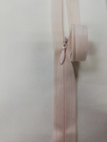 0355 Молния потайная Т3 60см цв.светло-розовый(в упак.50шт)