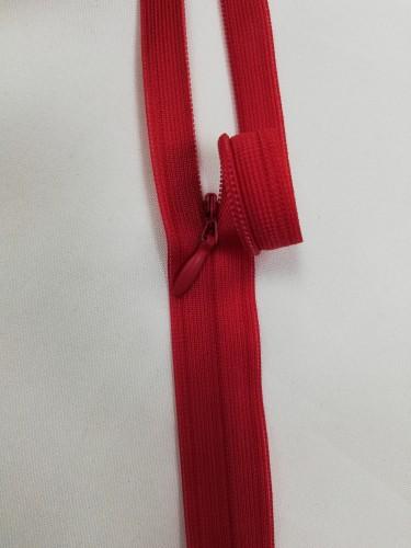 0171 Молния потайная Т3 60см цв.красный(в упак.50шт)