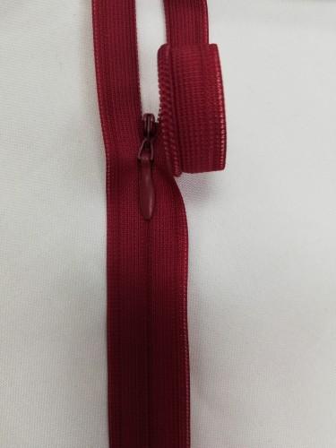0520 Молния потайная Т3 60см цв.т.красный(в упак.50шт)