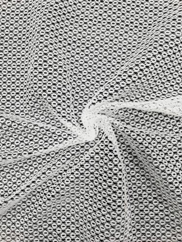 7803 Кружевное полотно на сетке цв.белый