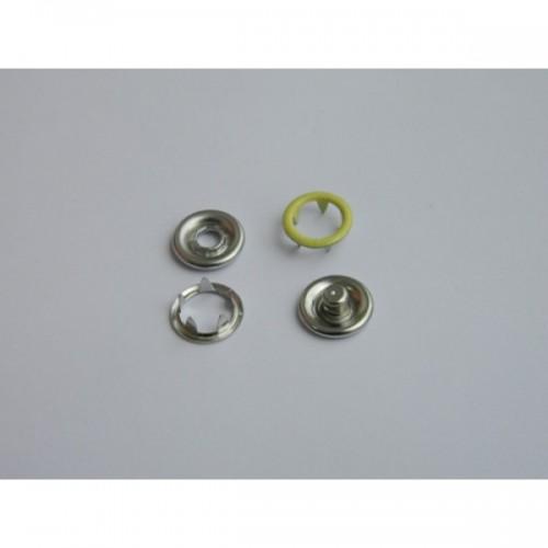 108 Кнопка нержавеющая трикотажная кольцевая 09,5мм цв.св.желтый(в упак.1440шт)