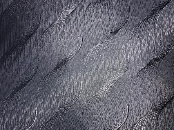 Р2 Ткань подкладочная жаккардовя волна 210Т 150см цв.черный(в рул.100м)