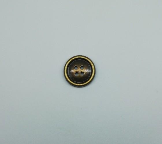 1414 Пуговица №24 15мм мат.хаки(в упак.2000шт,в кор.№469,в кор.№527)