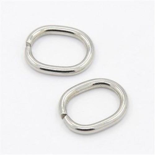 Кольцо овальное 2*6*25мм цв.никель