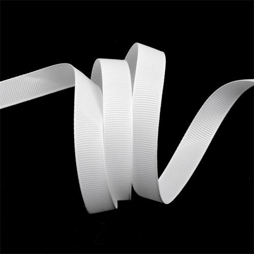 Репсовая лента матовая 14мм цв.белый(в рул.100м)