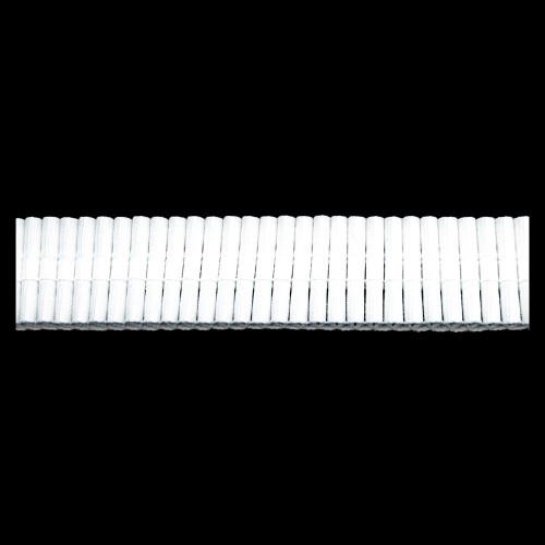 Шторная тесьма №025 buzgulu 25мм цв.белый(в рул.100м)