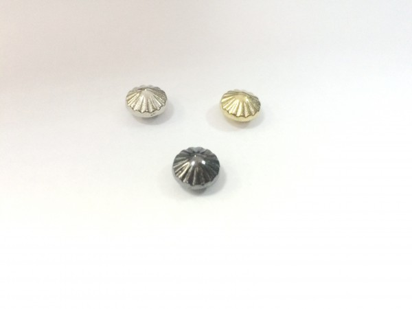 11178RR Шипы металлические на гвоздике 9мм цв.ч.никель