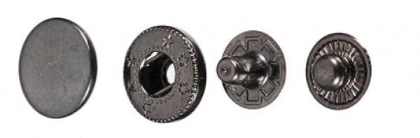 Кнопка нержавеющая Alfa 15мм цв.оксид(в упак.720шт)