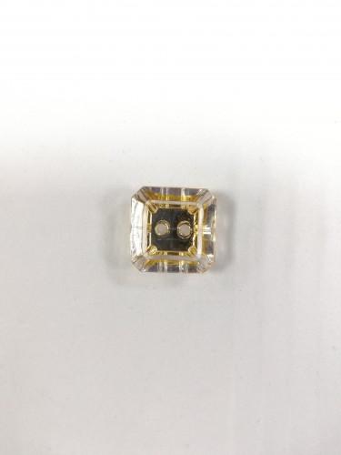1622 Пуговица №32 20мм цв.прозрачно-золотой(в упак.1000шт)