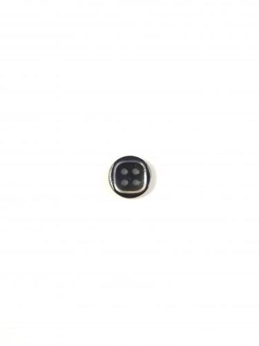 1629 Пуговица №18 11,5мм цв.черный(в упак.2000шт)