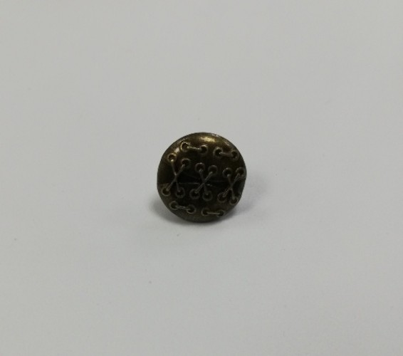 18 Джинсовые пуговицы литые 17мм цв.антик(в упак.100шт)