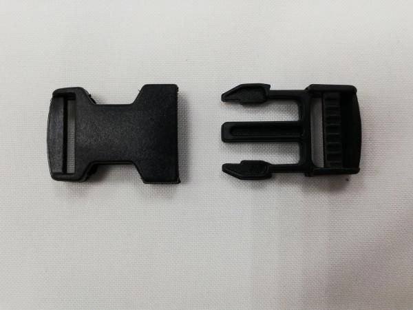 Фастекс пластиковый 20мм цв.черный (в упак.500шт)