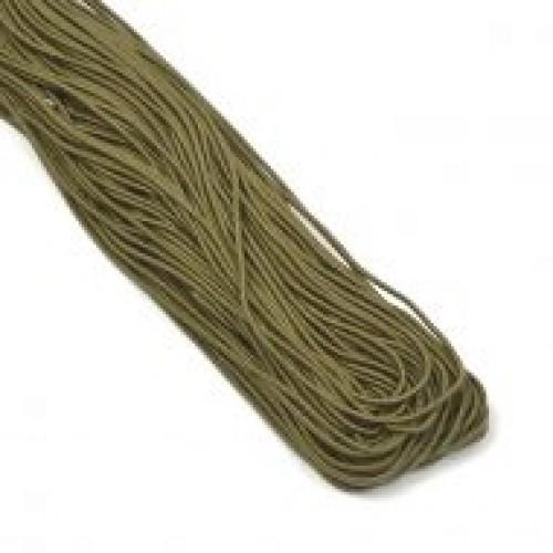 Резинка шляпная 2мм цв.оливковый(в рул.50м)