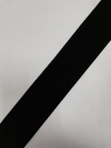 Бархатная лента 50мм цв.черный(в рул.50м)