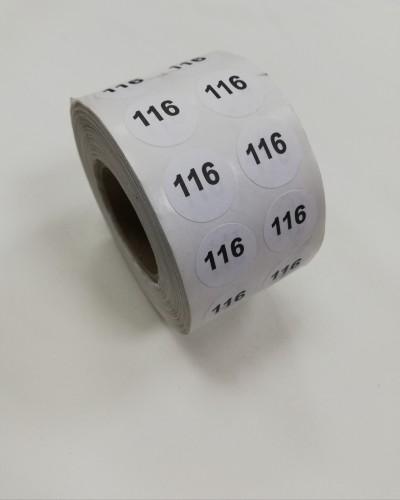 116 Размерники на самоклеящейся бумаге цв.белый(в рул.2500шт)
