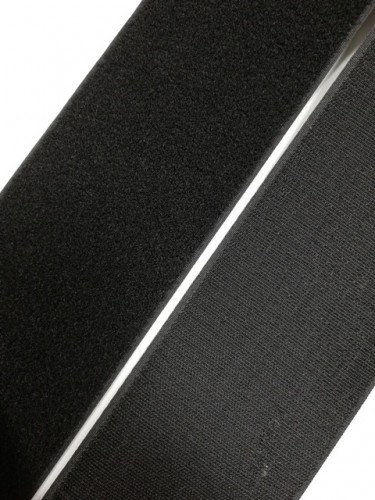 Липучка 100мм цв.черный(в рул.25м)