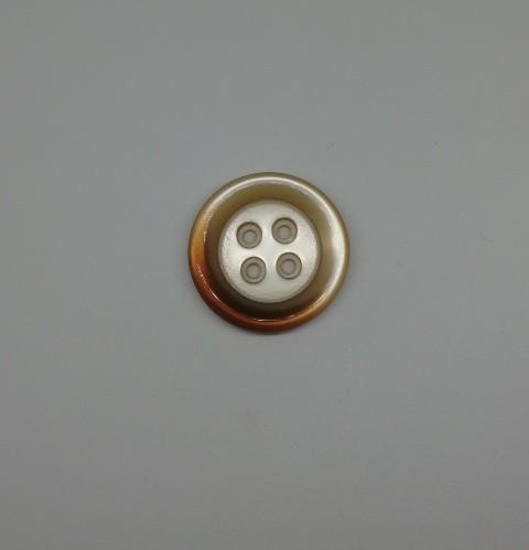 0350PMP Пуговица №28 18мм цв.св.коричневый(в упак.1000шт)